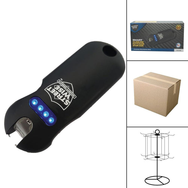Bulk wholesale discount pricing the Streetwise Security black color Smart stun gun.