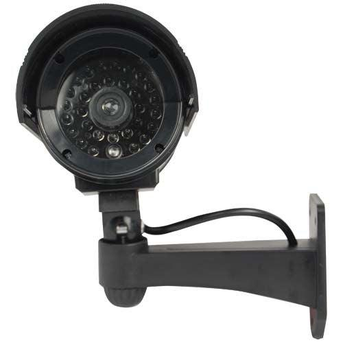 Fake dummy camera with black color housing has red flashing light.