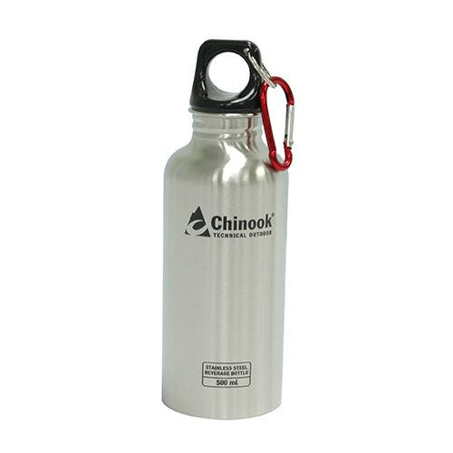Chinook Cascade Wide Mouth Stainless Steel 16oz water bottle ideal for survival kits.