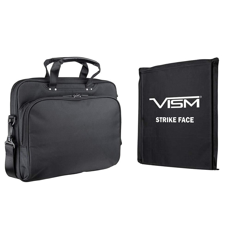 The Vism brand CCW color black laptop briefcase with ballistic panel.