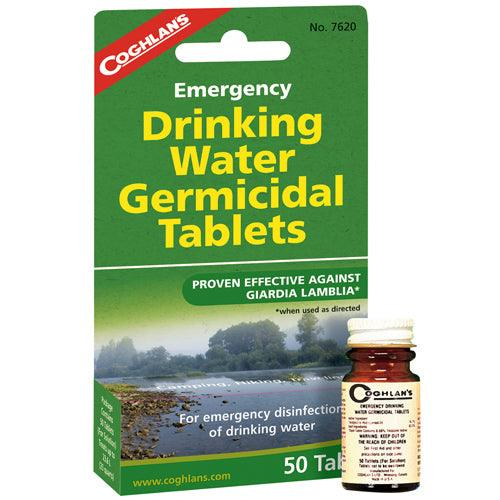 Emergency Drinking Water Germicidal Tablets are intended for emergency disinfection of drinking water