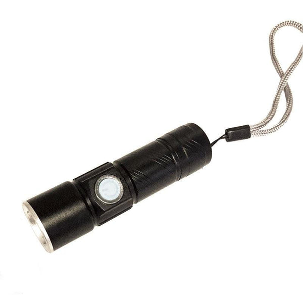 Compact USB Rechargeable CREE LED Flashlight