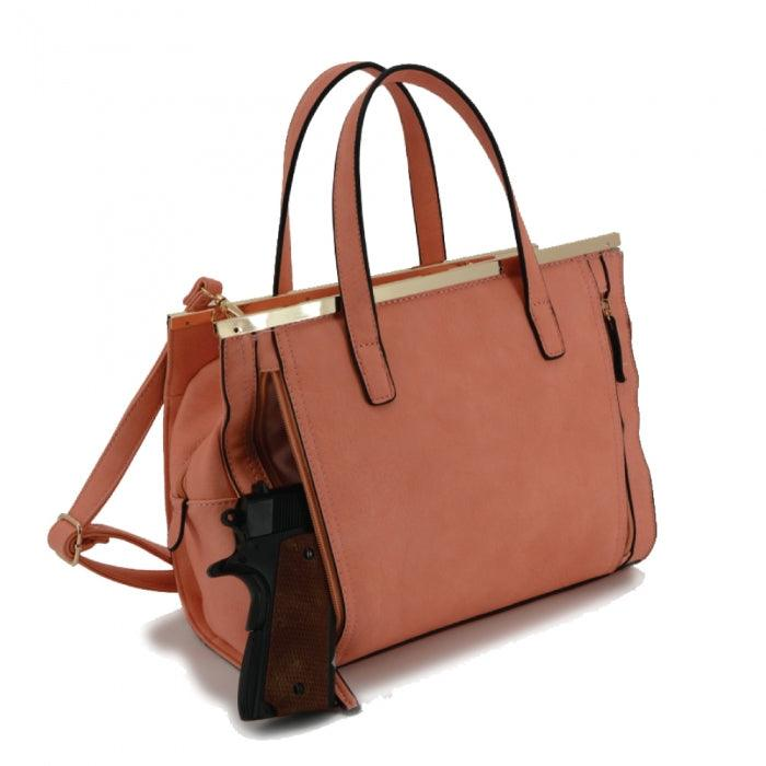 Cora Concealed Carry Purse Coral