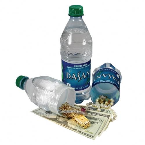 The Dasani Water Bottle Safe has hidden compartment you can safely hide valuables inside the secret compartment.