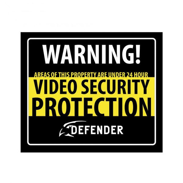 Home and business security signs.