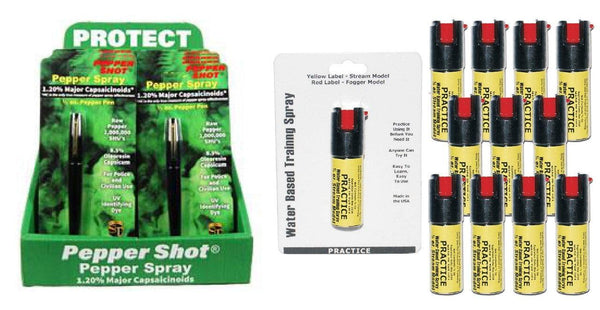 Low on  line pricing for pepper spray and inert sprays from self defense products inc.