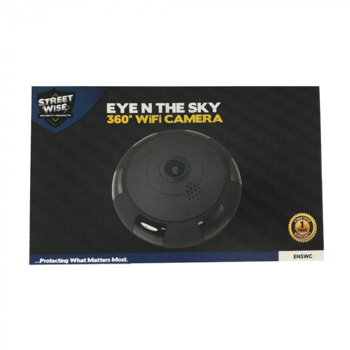 Disguised secret hidden surveillance camera the Eye in the Sky security system from Self Defense Products Inc.
