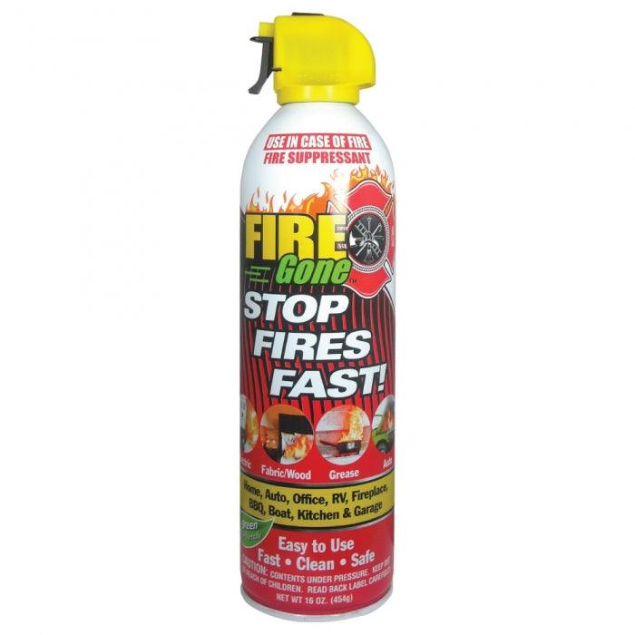 Fire Gone is a wonderful alternative to traditional fire extinguishers because the discharge time is much faster which helps reduce loss of life and property.