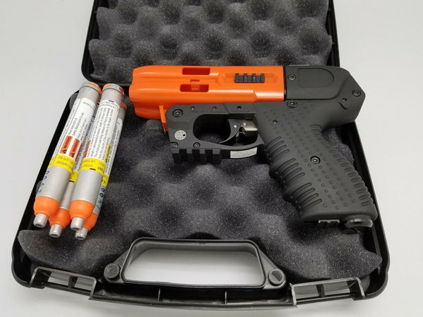 FIRESTORM JPX 4 Le Shot Defender Orange Pepper Spray Gun With Cordura Holster