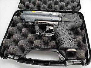 Firestorm pepper gun offers effective self defense protection with distance kept from the danger.
