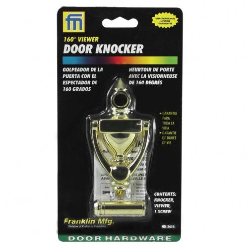 Franklin Door Knocker with 160 Degree Viewer