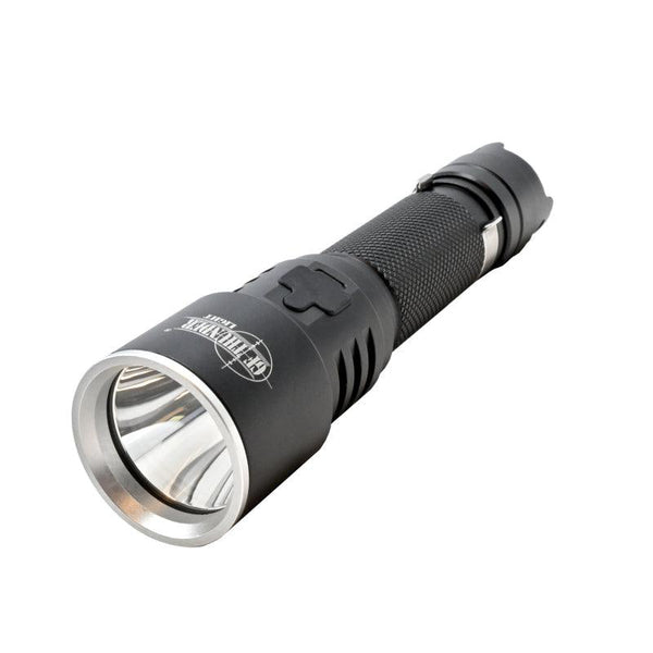 The GF Thunder tactical 1000 lumen LED flashlight for personal safety and more.