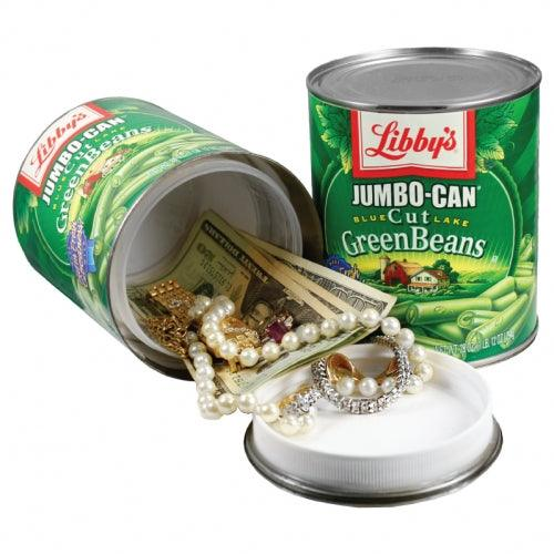 Hide your valuables inside this green bean diversion safe can with hidden compartment.