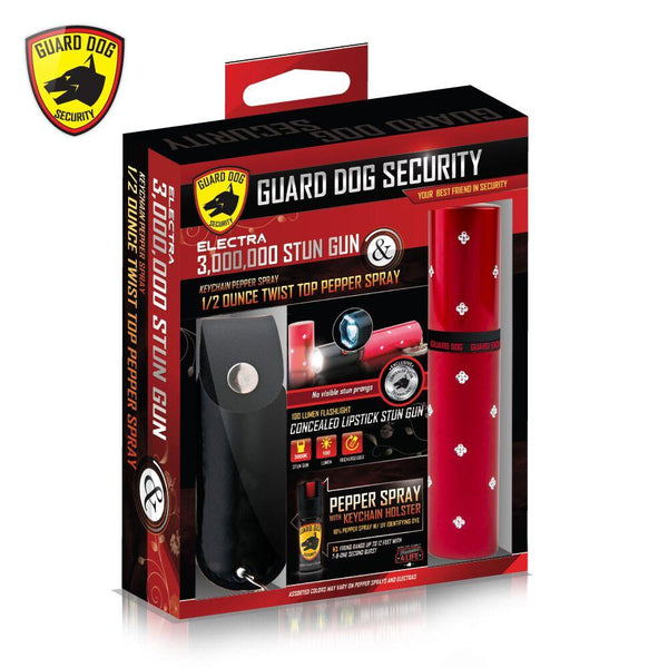 Electra Gift Set Black Spray and Red Lipstick Stun Gun