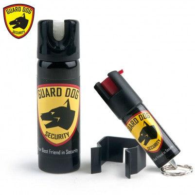 Pepper spray protection for home and when away from home.