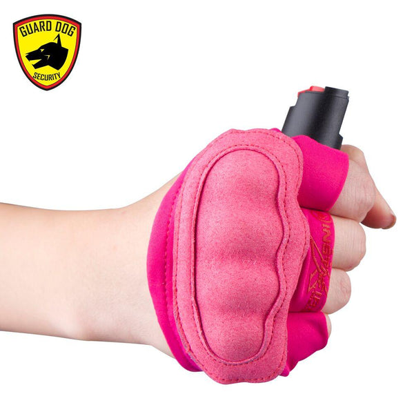 Women pepper spray options when running and jogging outdoors.
