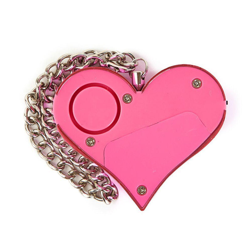 Heartbreak alarm quick-pull activation allows the user to swiftly pull the key chain to sound the alarm in a frenzy.