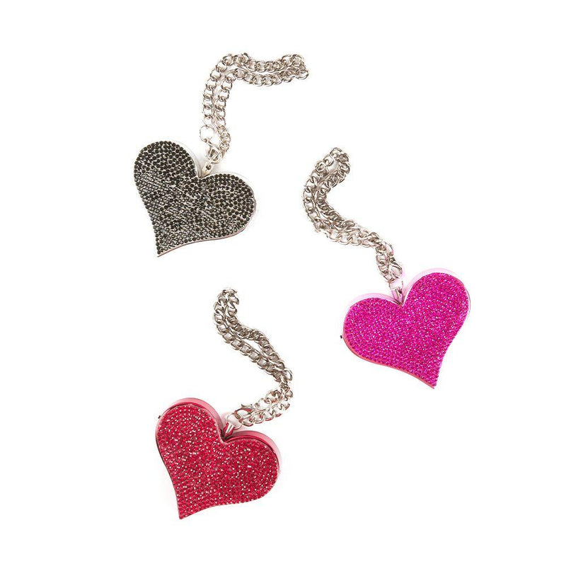 Heartbeat key-chain alarm Fits your style  decorated with high quality rhinestones.