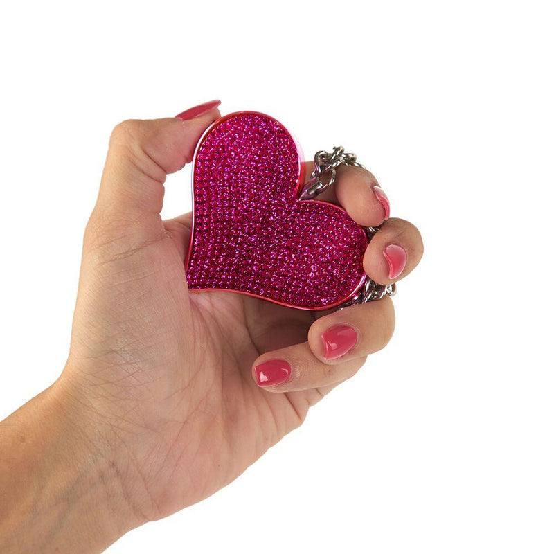 Color Pink the  Guard Dog Heartbeat Key-Chain Alarm.