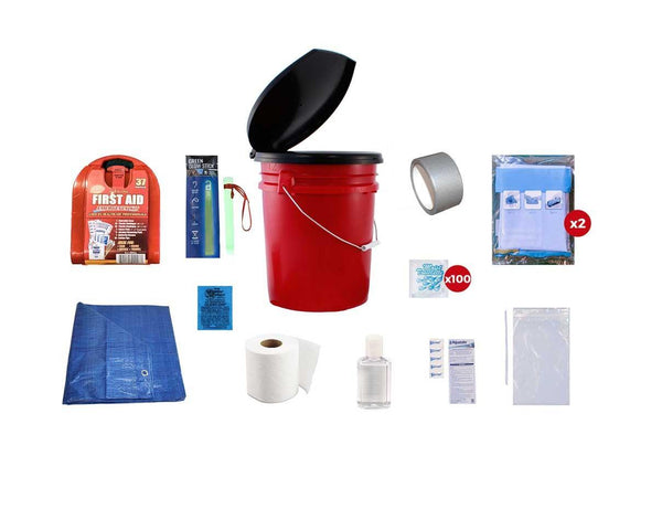 This Classroom Lockdown Kit includes all of the essentials to allow a class of 30 people to get through an emergency lockdown situation