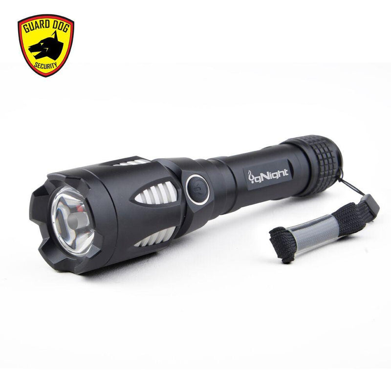 High quality, low on line price the 800 Lumen Guard Dog IgNight Multimedia Tactical Flashlight with 5 light functions.