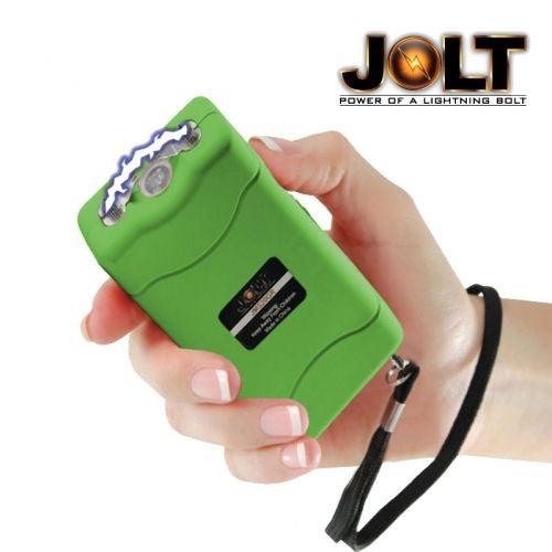 Rare color green mini stun gun for women and men personal self defense protection.