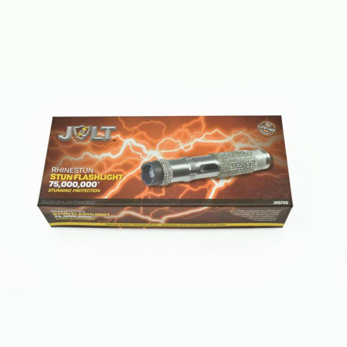 Jolt rhinestone electrode stun gun for women and men.