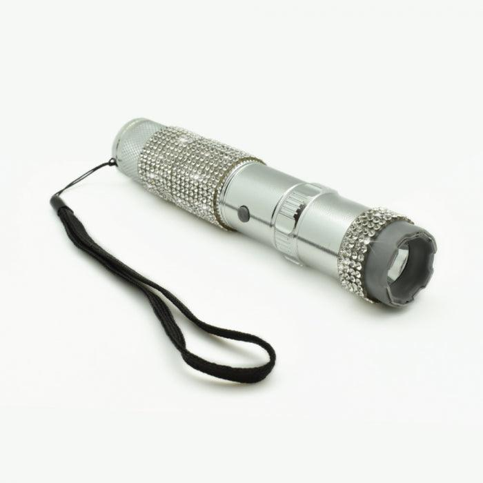 High power electrode flashlight stun gun.