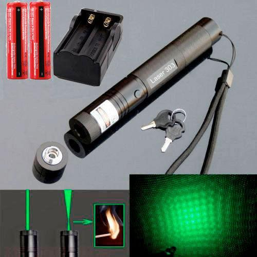 Green Laser Pointer with Safety Key and Charger great for hobbies, office presentations and more.