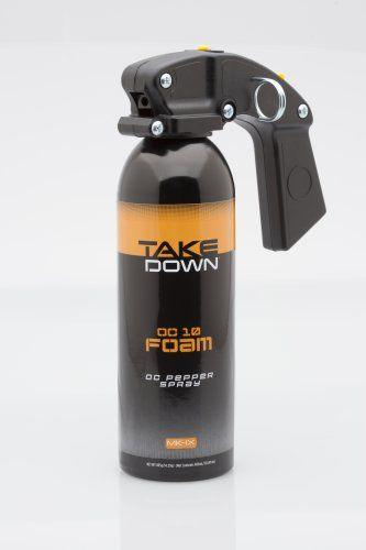 Mace Take Down foam spray for law enforcement and civilian use.
