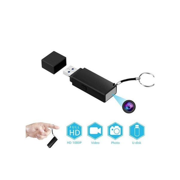 This mini USB has a hidden spy camera inside with built In DVR for discrete use.