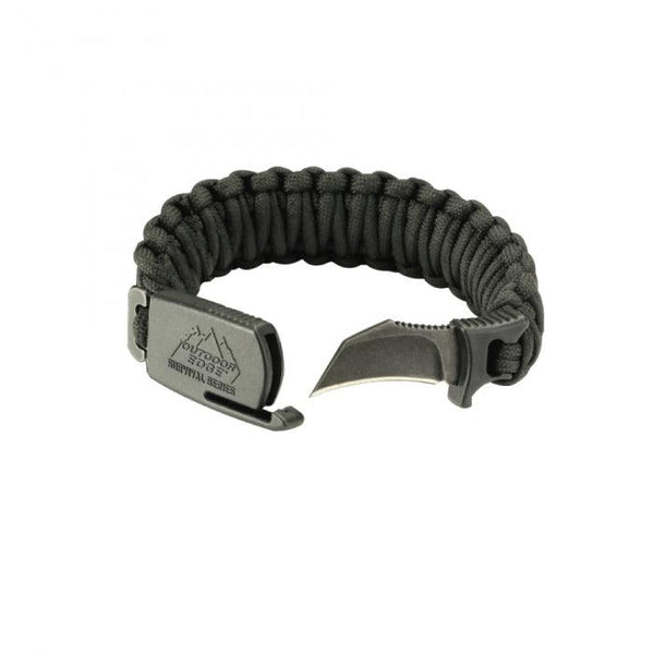 Outdoor Edge Para-Claw Survival Bracelet Medium Size ideal for everyday use, self defense and survival.