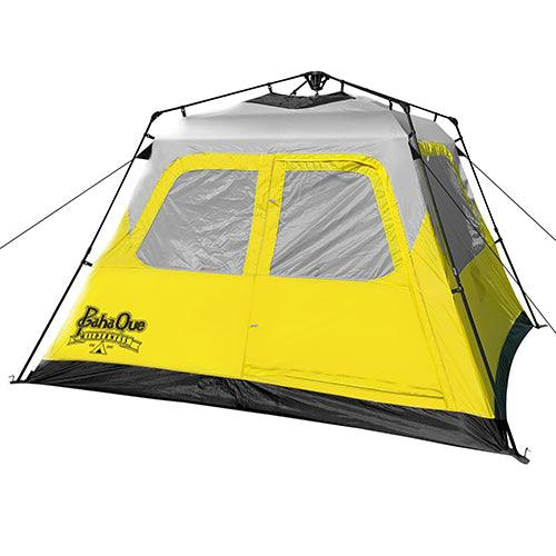 The PahaQue Basecamp 6-person quick pitch tent is designed to provide ease of use, total weather protection and extra roominess, in an affordable family camping and survival shelter tent.