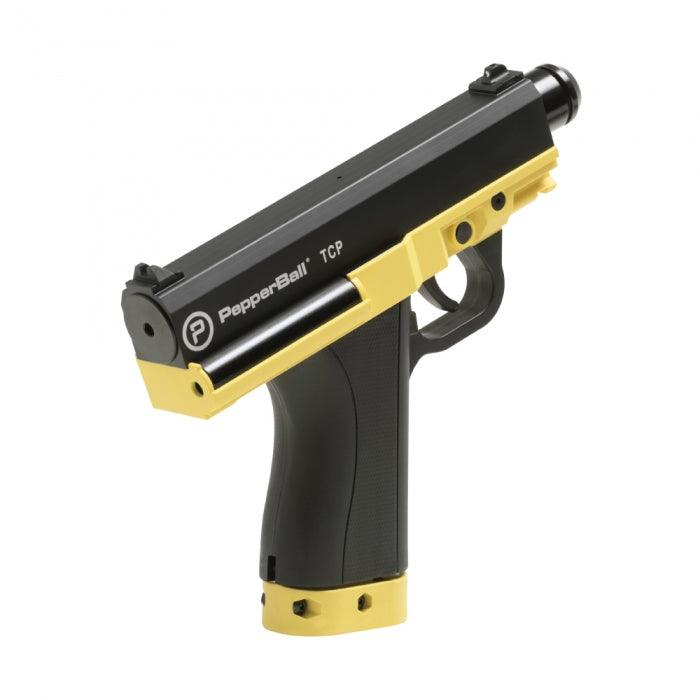 Pepper ball gun option for personal protection.