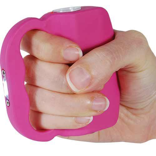 Pink stun guns for women, runners, joggers and walks outdoors.