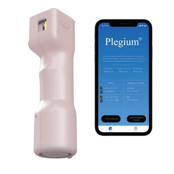 New on line for sale Smart phone technology with pepper spray offers women self defense with peace of mind protection.