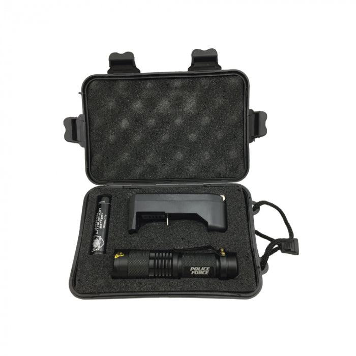 Carry case for the Police Force Tactical T6 LED Flashlight.