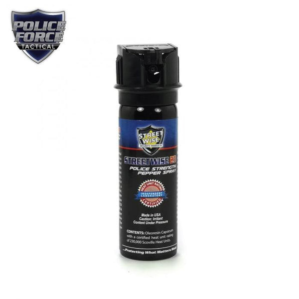 Police Force 23% Pepper Spray 3 oz Flip Top