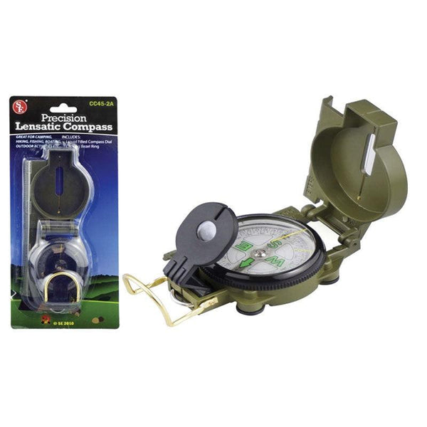Precision Lensmatic Compass in the preferred compass for hiking and navigating. Military style design and sighting get you there to the right destination.