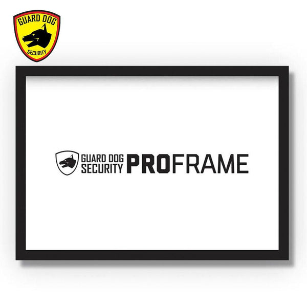 Guard Dog Security ProFame, a household and business bulletproof picture frame with straps to hold to stop bullets shot your direction for personal protection.
