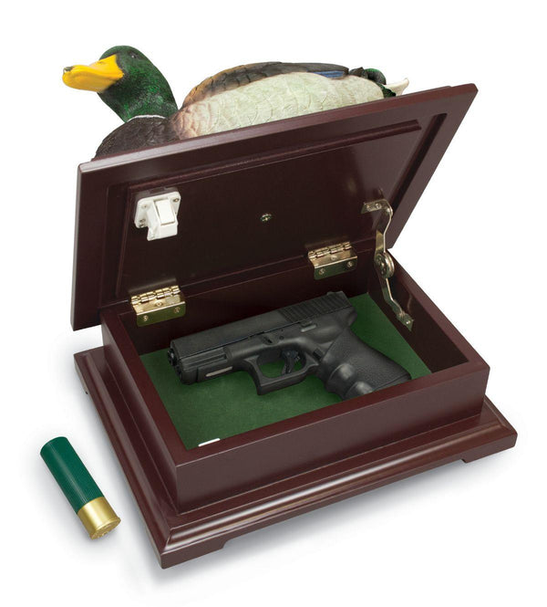 Decoy Duck Concealment Box hidden compartment to safely hide valuables or handguns inside.