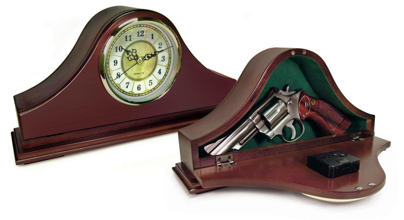 Mantle Gun Clock Hidden Compartment