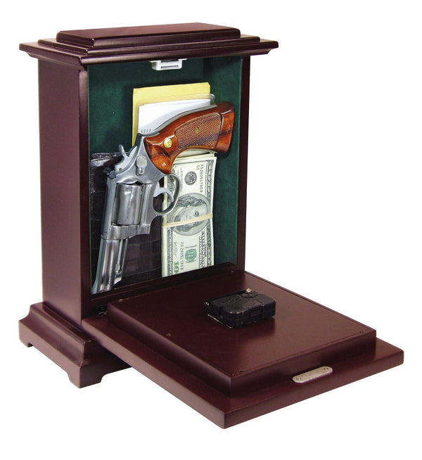 Rectangular Gun Clock  with Concealment Compartment to safely hide valuables or handgun inside.