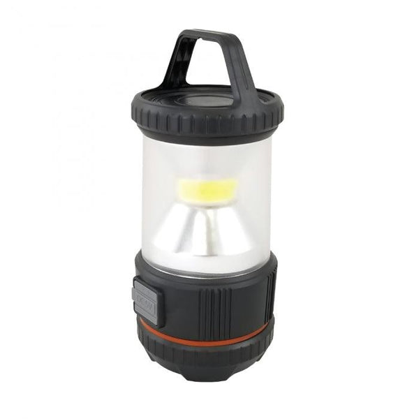 Rechargeable LED Camping Lamp with Power Bank Provides 360o of bright light.
