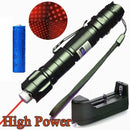 Teaching Red Laser Pointer Pen Astronomy 20Miles Lazer Light 18650Batt Charger