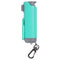 Sabre gel spray and automotive safety tool with mint green color hard case.