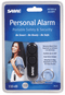 SABRE personal alarm attaches to bag, key-chain or purse for easy access offering effective self defense protection for women.