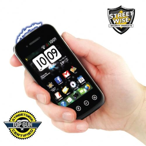 Disguised cell phone stun gun for women and men self defense protection.