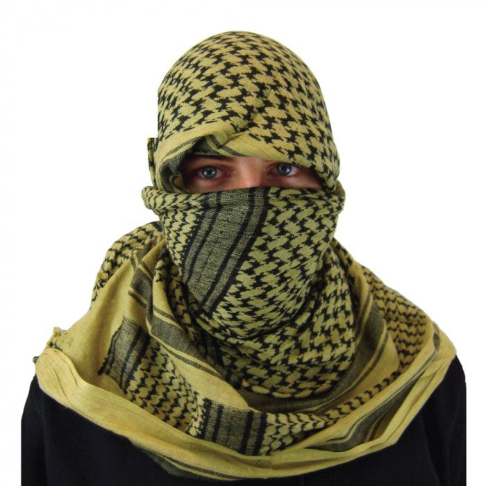 Coyote brown color shemagh for head protection and possilbe protection from virus such as cornoavirus