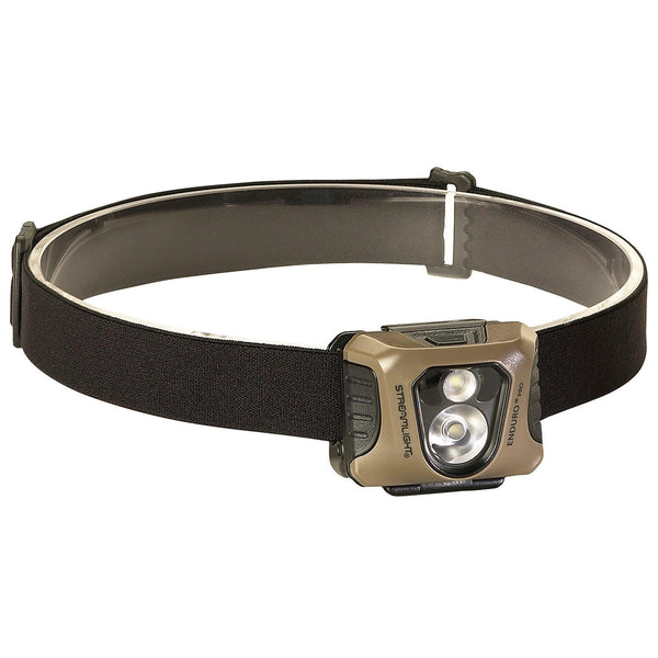 Streamlight Enduro coyote finish headlamp.